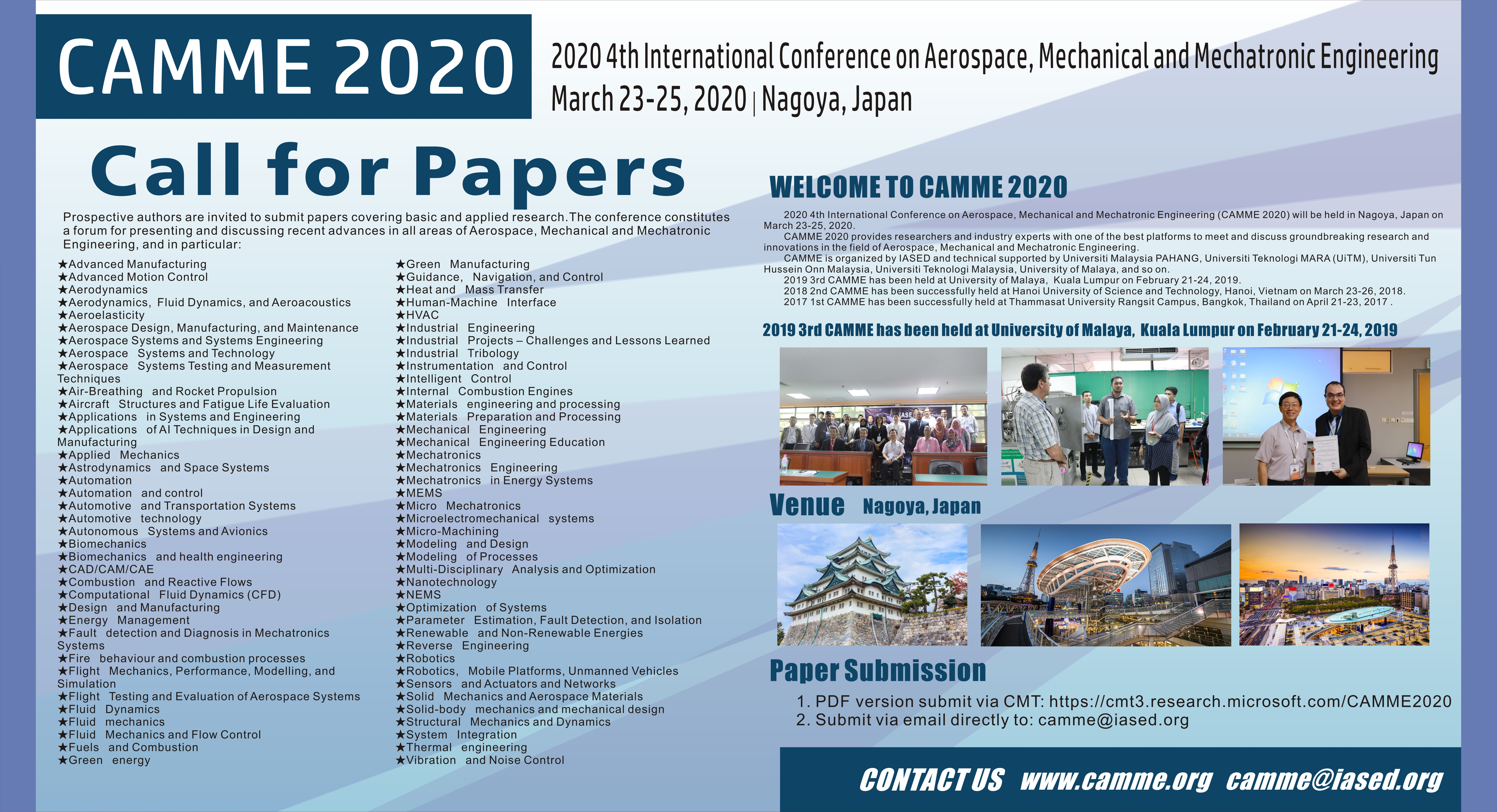 CAMME 2020-Call for papers